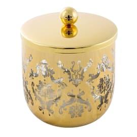 Porta cotone Rialto in vetro oro CIPI