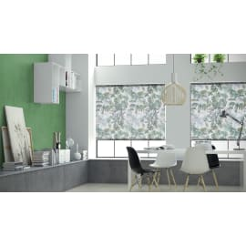 Tenda a rullo Foliage verde e bianco 180x250 cm