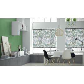 Tenda a rullo Foliage verde e bianco 45x250 cm