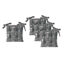 Cuscino per seduta Relax grigio 40x40 cm, 4 pezzi