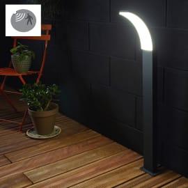 Lampioncino Lakko H8cm LED integrato in alluminio nero 99W 1200LM IP44 INSPIRE