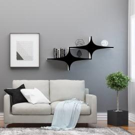 Mensola Chausey L 135 x P 20 cm, Sp 20 cm bianco e nero