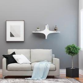 Mensola Chausey L 90 x P 20 cm, Sp 20 cm bianco