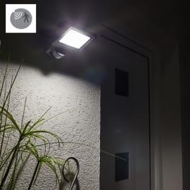 Proiettore LED integrato con sensore di movimento Yonkers in alluminio, antracite, 20W 1800LM IP65 INSPIRE