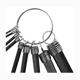 Set di chiave a brugola esagonale o allen (btr) 9 pezzi