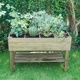 Fioriera per orto in legno L 120 x P 60 x H 80 cm