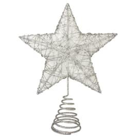 Puntale per albero di natale Stella in metallo H 25 cm