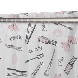Tenda Make-up rosa fettuccia con passanti nascosti 140x290 cm