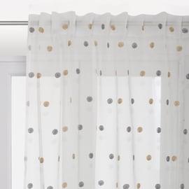 Tenda Chloe bianco fettuccia e passanti 140x290 cm