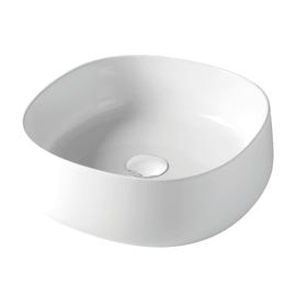 Lavabo da appoggio Rotondo in ceramica Ø 42 x H 15 cm bianco