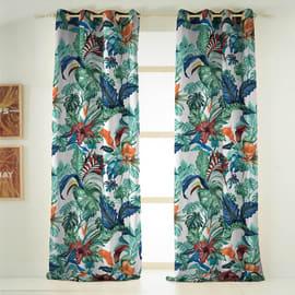 Tenda INSPIRE Malibù verde occhielli 140x270 cm