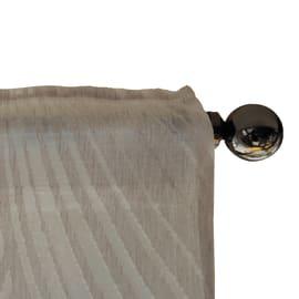 Tenda Albenza bianco fettuccia con passanti nascosti 140x300 cm