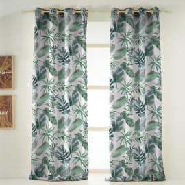 Tenda INSPIRE Syon verde occhielli 140x270 cm
