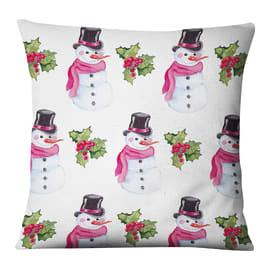 Fodera per cuscino Pupazzo Neve bianco 45x45 cm