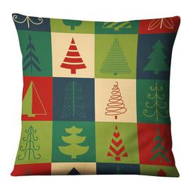 Fodera per cuscino Alberi multicolore 45x45 cm