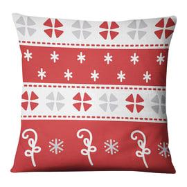 Fodera per cuscino Natale rosso, grigio, bianco 45x45 cm
