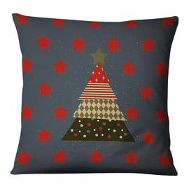 Fodera per cuscino Albero Natale Stelle blu 45x45 cm