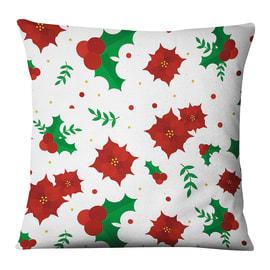 Fodera per cuscino Vischio bianco, rosso, verde 45x45 cm