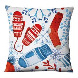 Fodera per cuscino Guanti bianco, azzurro, rosso 45x45 cm