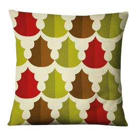 Fodera per cuscino Fantasia Alberi rosso, verde, marrone 45x45 cm