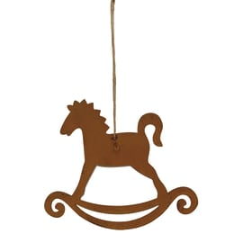 Figura natalizia marrone L 16 x H 19 cm