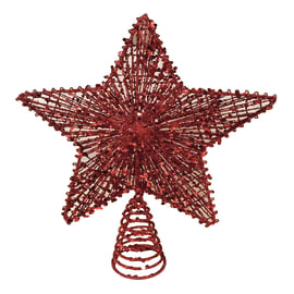 Puntale per albero di natale Stella in metallico H 30 cm
