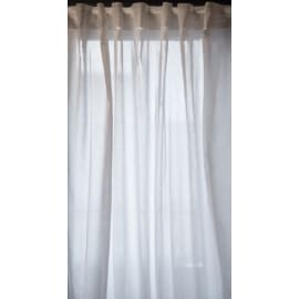 2 tende Tilde bianco fettuccia con passanti nascosti 148x294 cm