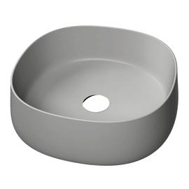 Lavabo da appoggio in ceramica grigio