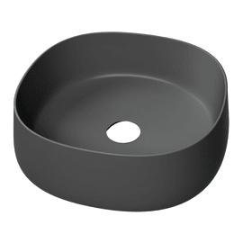 Lavabo da appoggio in ceramica nero