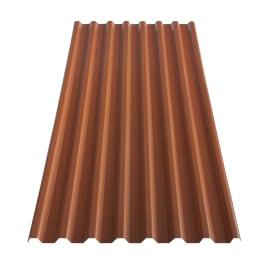 Lastra grecata TECNOIMAC in polimglass® 106 x 200 cm, Sp 1.8 mm terracotta
