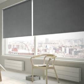 Tenda a rullo Texture oscurante grigio 75x250 cm
