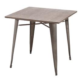 Set tavolo e sedie Soho Bambù in acciaio grigio / argento 4 posti