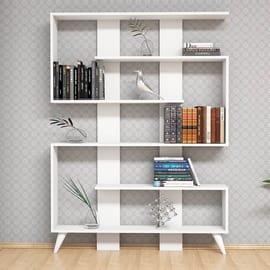 Libreria Jane 5 ripiani L 120 x P 22 x H 164 cm