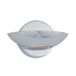 Applique Luna cromo e trasparente, in ferro, 10x17 cm, R7S MAX75W IP20