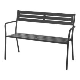 Panchina TREVI in acciaio colore grigio antracite 2