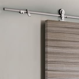 Porta scorrevole con binario esterno Cover in legno laminato Kit Toledo L 92.5 x H 211.5 cm