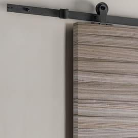 Porta scorrevole con binario esterno Cover in mdf laminato Kit Indus L 92.5 x H 211.5 cm