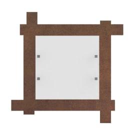 Plafoniera Leone marrone, in metallo, 40x40 cm, LED integrato 18WW IP20