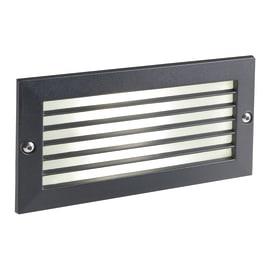 Faretto da incasso da esterno rettangolare Escape LED integrato in fusione di alluminio, nero, 10W 700LM IP65