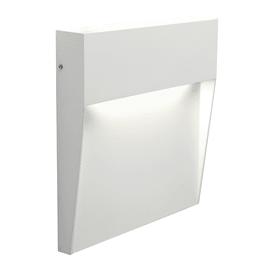 Faretto da incasso da esterno quadrato Geo Square LED integrato in fusione di alluminio, acciaio e blu ral 5011, 6W 425LM IP65