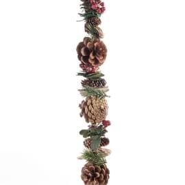 Ghirlanda natalizia marrone L 150 cm , Ø 6 cm