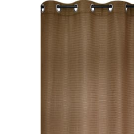 Tenda Solena marrone anelli 140x280 cm