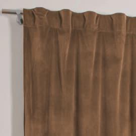 Tenda Misty marrone cammello fettuccia con passanti nascosti 135x280 cm