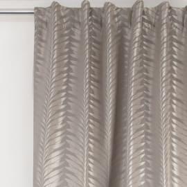 Tenda Foglie argento fettuccia con passanti nascosti 135x280 cm