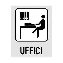 Cartello segnaletico Uffici polipropilene 8 x 10 cm
