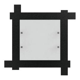 Plafoniera Leone nero, in acciaio, 40x40 cm, IP20
