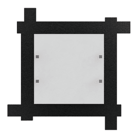 Plafoniera Leone nero, in acciaio, 40x40 cm, LED integrato High quality 18W IP20