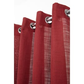 Tenda Infini rosso bordeaux anelli 140x280 cm