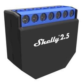 Ricevitore I-SMARTALARM Shelly 2.5 Doppio Interruttore/Relè/Roller Shutter Wi-Fi compatibile con Amazon Alexa e Google Home