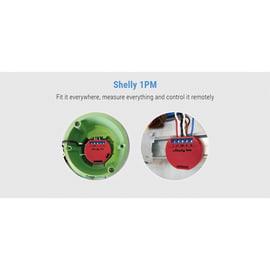 Ricevitore I-SMARTALARM Shelly 1PM Interruttore/Relè Wi-Fi compatibile con Amazon Alexa e Google Home